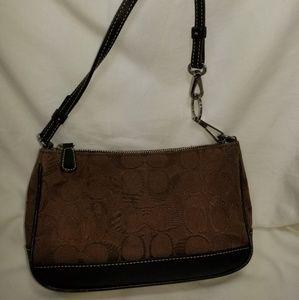 B8,092 Coach Monogram Leather  Canvas Bag